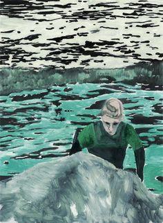 Thunderstruck (Peter Doig (British, b. 1959), Surfer, 2000. Oil...)