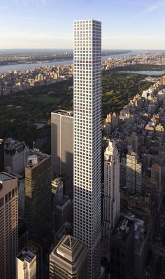 432 Park Avenue in New York City by Rafael Viñoly Architects. Standing at 425.5 meters, it is the tallest all-residential building in the world