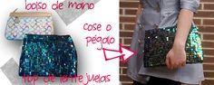 TRASTEANDO DIY: DIY... CLUTCH DE LENTEJUELAS (utilizar falda lentejuelas)