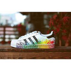 Adidas Originals LGBT Superstar Unisex Scarpe - Bianco/Arcobaleno