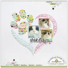 This would be cute for a child's page too. Love the stitching! Scrapbook.com
