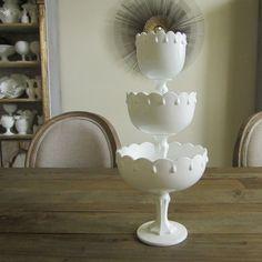 Indiana Glass Company Teardrop Milk Glass by TheMilkGlassQueen, $65.00