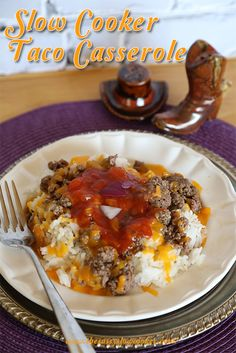 Slow Cooker Taco Casserole Recipe - The Sassy Slow Cooker