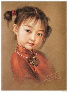 Peinture à l'huile de Xu Fang (1979) artiste chinoise.
