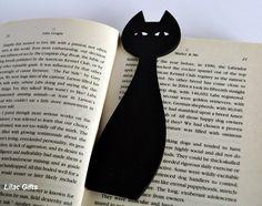 Bookmark, black cat, black color, halloween. $3,50, via Etsy.