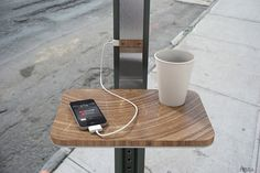 A solar powered charging station for mobile devices, concept by PENSA. There's plenty of times when this could of come in handy.