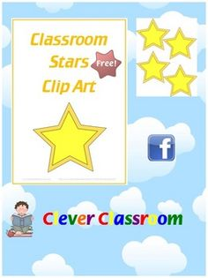 FREE Download! Classroom Stars - blank - Clip Art PDF file6 page, free printable download. All 6 pages are the same as the first.Brighten u...