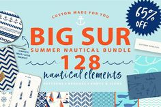 Summer Nautical Bundle! 128 graphics by PatternSupplyCo on @creativemarket