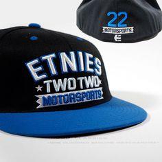 Etnies Fitted 22 Motorsport Flex Fit Full Cap Men Old School Skater Baseball Hat