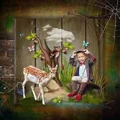 L'histoire d'une vie dans les bois by Kitty Scrap Photo by Katerina Polkovnikova