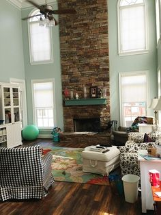 solutions for a two story living room - the handmade home