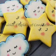 Twinkle twinkle baby shower cookies.  My favorite are the clouds!  #decoratedcookies #babyshowerfavors  #edibleart #twinkletwinklelittlestar #brevard #melbeach #melbourne #indialantic #satellitebeach  via ✨ @padgram ✨(http://dl.padgram.com) #babyshowercookies