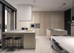 Tamizo Architects - q-house single family house interior design, Grudziądz. Contemporary Interior Design, Modern Kitchen Design, Bathroom Interior Design, Modern House Design, Kitchen Interior, Modern Interior, Interior Architecture, Minimalist House Design, Minimalist Interior