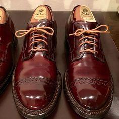 2017/02/11 18:13:59 oosakan31 #cordvan #alden #no8 #コードバン #オールデン #靴磨き #パンスト New Shoes, Men's Shoes, Shoe Boots, Dress Shoes, Shoes Men, Cordovan Shoes, Brogues, Loafers, Mens Clothing Trends