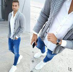 der Shop für den Gentleman www. Mens Fashion Wear, Boy Fashion, Fashion Outfits, Stylish Men, Men Casual, Mode Man, Style Masculin, Herren Style, Herren Outfit