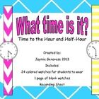 Who knew telling time could be so fun?    Each student puts on a watch.  They walk around the classroom and ask each other, What time is it?  They ...