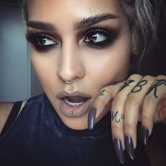 #staycreepy @lora_arellano In the dark matter eyeshadow stack !!! Get yours on our site ! www.meltcosmetics.com #meltdarkmatter #meltcosmetics