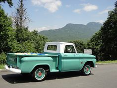 1964 Chevy Truck - Just like my Grandaddys 1965 Chevy C10, Chevy Stepside, C10 Trucks, Chevy Pickup Trucks, Old Pickup, Chevy Pickups, Chevrolet Trucks, Volkswagen, Toyota