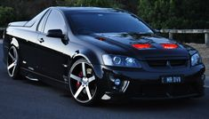 Holden HSV Maloo Ute With Red LED Installed Into The Bonnet Air Vents 🔥🔥 Australian Muscle Cars, Aussie Muscle Cars, Custom Wheels, Custom Cars, Holden Maloo, Holden Muscle Cars, Holden Commodore, Red Led, Slammed