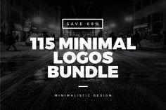 115 Minimal Vintage Logos Bundle by Worn Out Media Co. on Creative Market