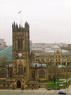 Manchester Cathedral, England. Several of my ancestors were christened in this cathedral.