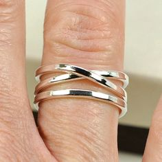 Silver Infinity Ring Plus One Stacking Pure door seababejewelry