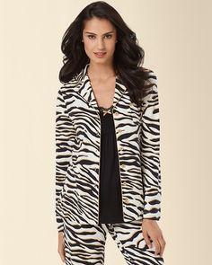 Soma Intimates Embraceable Pajama Top Safari Ivory #MySomaWishList