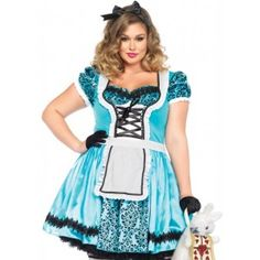 cbefe64441 Looking Glass Alice in Wonderland Plus Size Halloween Costume