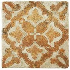 Merola Tile Attica Beige 16-7/8 in. x 16-7/8 in. Ceramic Floor and Wall Tile (14.15 sq. ft. / case)-FAZ18ATB - The Home Depot House Tiles, Wall And Floor Tiles, Wall Tiles, Spanish Tile, Tile Projects, Tiles Texture, Stone Tiles, Tile Patterns, Neutral Tones