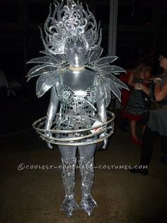 Awesome Scifi Lighted Extraterrestrial Alien Costume...