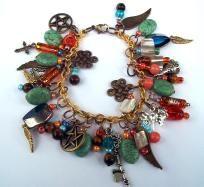 Pentacle & Turquoise Bracelet Wicca