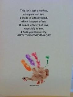 Thanksgiving craft FOR YOUR CHILD add feathers to incorporate math, and a sight word to incorporate literacy for highs.