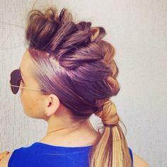 Use Va Va Voom Spray for texture... this #braid hawk  maybe #fun for a #nightout #hair #hairoftheday  #nuuvohaircare promo 10off nuuvohaircare.com