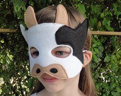 Fox Mask  Orange Fox  Woodland Animal Mask  Fox by herflyinghorses