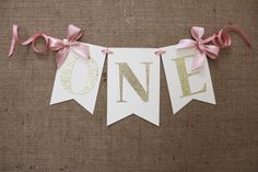 Blush Pink and Gold Highchair Banner