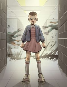 Eleven, Stranger Things, Netflix, TV Show, Série, Série Télé, Sci-fi, Science-fiction, Fantastique, Top, Saison 1, Saison 2, Fan art, Oeuvre, Dessin, Fan, Hommage, Image
