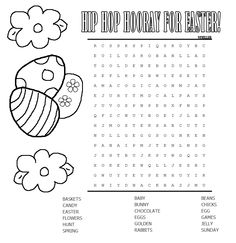 Easter Word Search Printable Word search Easter and Word search