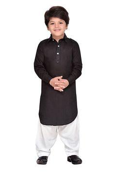 Traditional Indian Boys Pathani Suit for Kids Ethnic Wear Kurta Pajama Kids Blouse Designs, Mens Kurta Designs, Baby Boy Dress, Baby Dresses, Big Men Fashion, Kids Fashion Boy, Kids Kurta Pajama, Boys Kurta Design, Stylish Little Boys