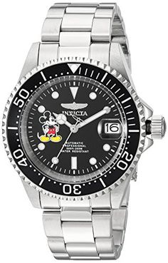 Men's Wrist Watches - Invicta Mens Disney Edition Automatic Stainless Steel Casual Watch ColorSilverToned Model 22777 * Check out the image by visiting the link. (This is an Amazon affiliate link)