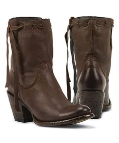 Look at this Black Star Brown Pegasus Leather Boot on #zulily today!