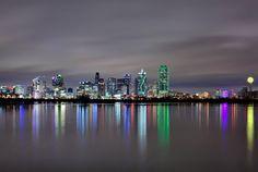 Dallas skyline from Trinity River after a heavy rain...beautiful!