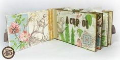 Some of the great pages of Alberto's Botanical Tea mini #graphic45 #minialbums