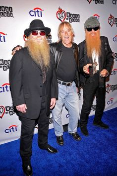 Dusty Hill, Frank Beard and Billy Gibbons of ZZ Top attend the House Of Blues' Anniversary Celebration at House of Blues Sunset Strip on December 2012 in West Hollywood, California. Billy Gibbons, Rhythm And Blues, Blues Music, Rock N Roll Music, Rock And Roll, Frank Beard, Texas, Eddie Van Halen, Zz Top