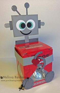Robot Treat Wrapper by melissabanbury - Cards and Paper Crafts at Splitcoaststampers