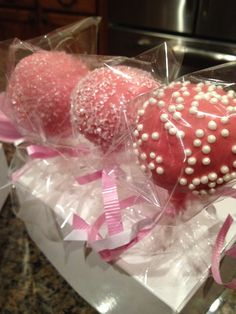 My pink themed cake pops!