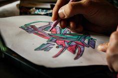 JiesOne dropping a sketch | workshop Rigshospitalet