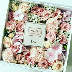 Miss Dior with flowers