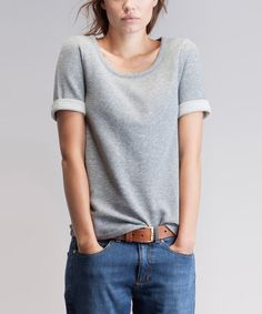 Look what I found on #zulily! Gray Mélange Napoli Scoop Neck Top by Baukjen, $25 !! #zulilyfinds