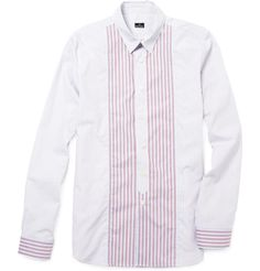 PS By Paul Smith Contrasting Stripe Cotton Shirt $83