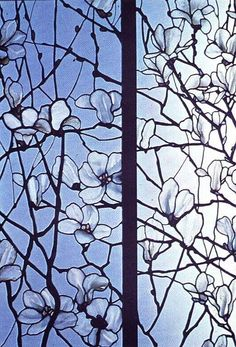 Image result for pattern for cherry blossom stained glass